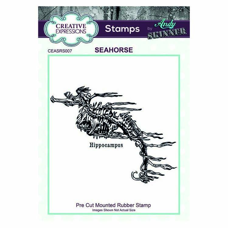 Creative Expressions Pre Cut Rubber Stamp by Andy Skinner Seahorse