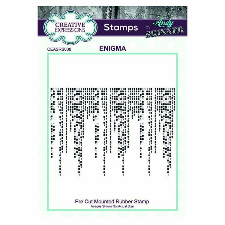 Creative Expressions Pre Cut Rubber Stamp by Andy Skinner Enigma
