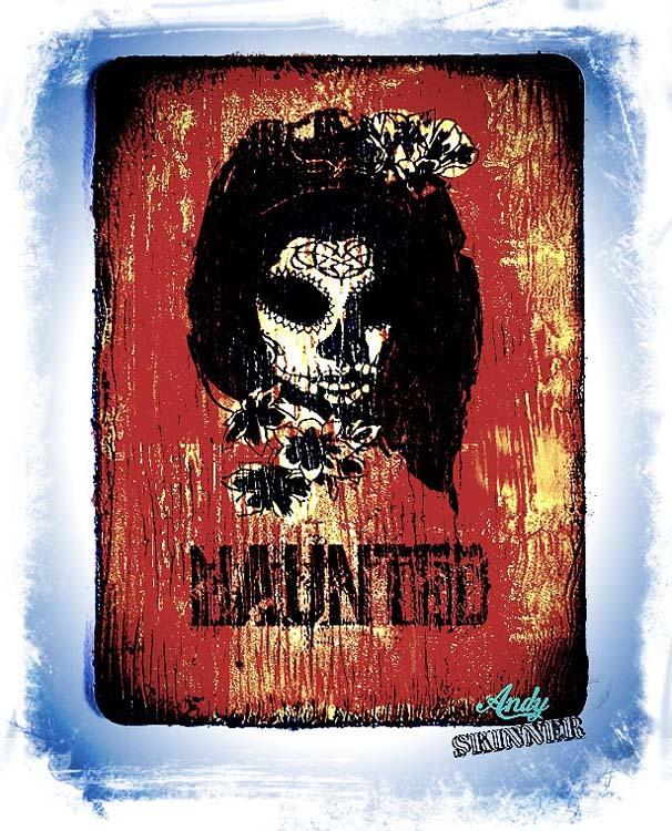 Creative Expressions  Mixed Media Transfers by Andy Skinner Horror