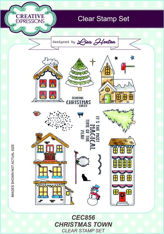 Creative Expressions Christmas Town A5 Clear Stamp Set
