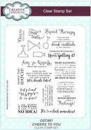 Creative Expressions Cheers To You A5 Clear Stamp Set