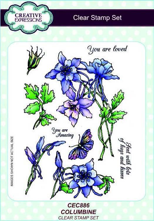 Creative Expressions A5 Clear Stamp Set Columbine