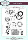 Creative Expressions Loopy Textures & Elements A5 Clear Stamp Set