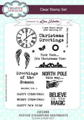 Festive Steampunk Sentiments A5 Clear Stamp Set