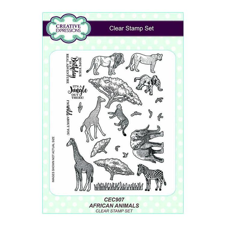 Creative Expressions African Animals A5 Clear Stamp Set