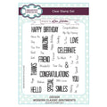 Creative Expressions Modern Classic Sentiments A5 Clear Stamp Set