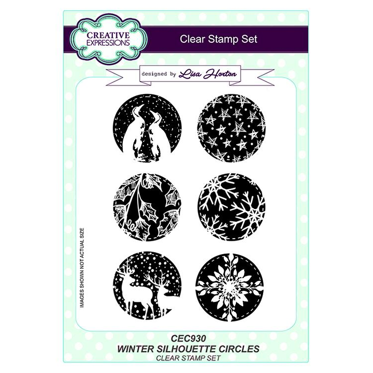 Creative Expressions Winter Silhouette Circles A5 Clear Stamp Set