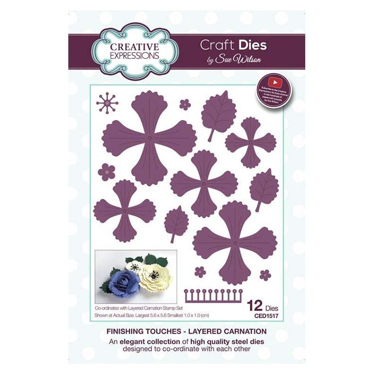 Creative Expressions Finishing Touches Collection Layered Carnation