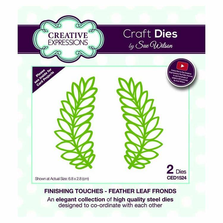 Dies by Sue Wilson Finishing Touches Collection Feather Leaf Fronds
