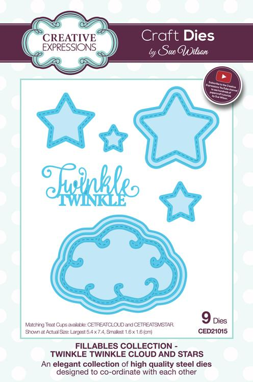 Fillables Collection Twinkle Twinkle Clouds and Stars Die