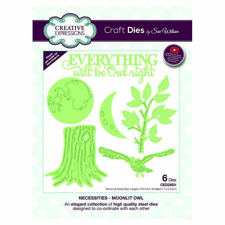 Dies by Sue Wilson Necessities Collection Moonlit Owl