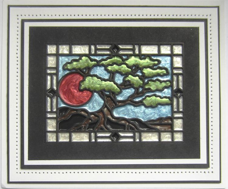 Stained Glass Collection Bonsai Tree Die