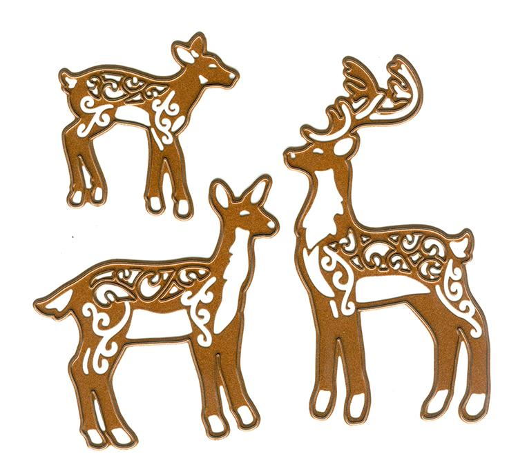 Festive Collection Deer Family