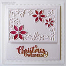 Festive Collection Pretty Poinsettia Frame Craft Die