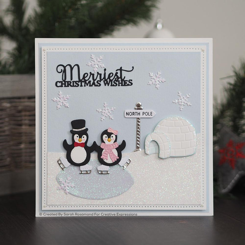 Dies by Sue Wilson Festive Penguin Palace
