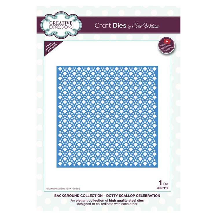 Dies by Sue Wilson Background Collection Dotty Scallop Celebration