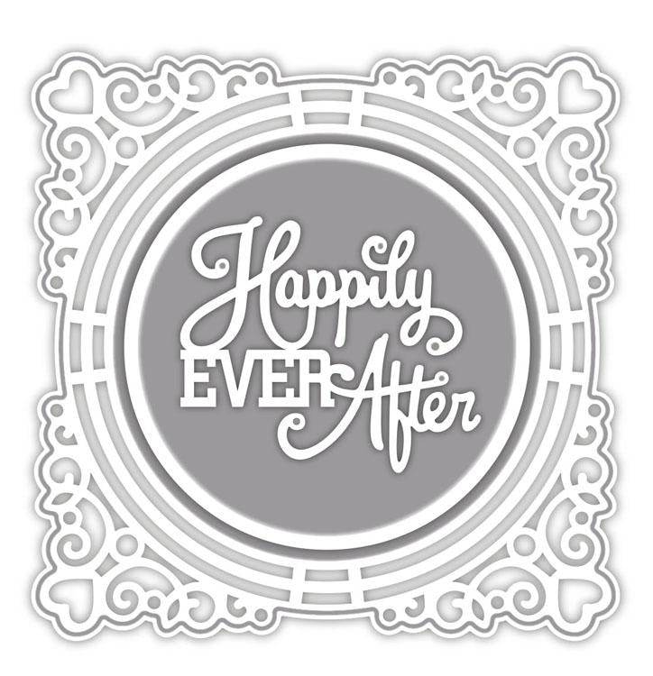 Special Occasion Collection Ornate Framed Happily Ever After