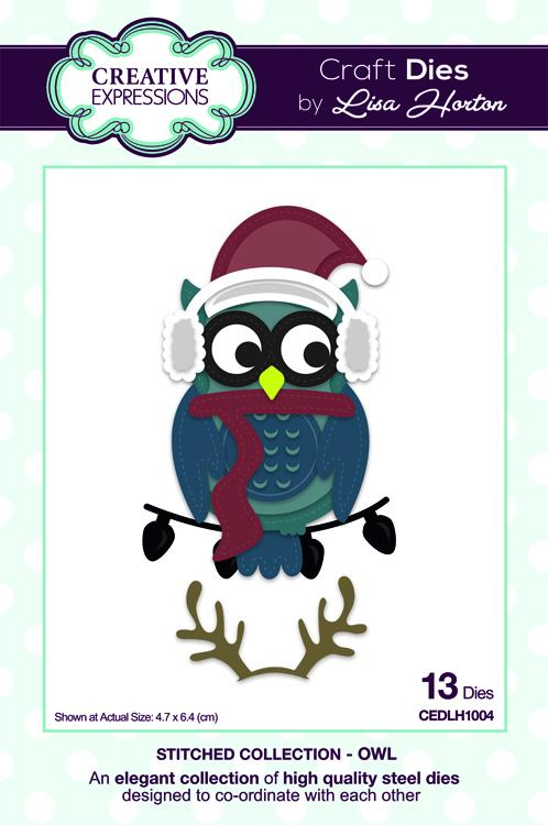 Creative Expressions Die Stitched Collection - Owl