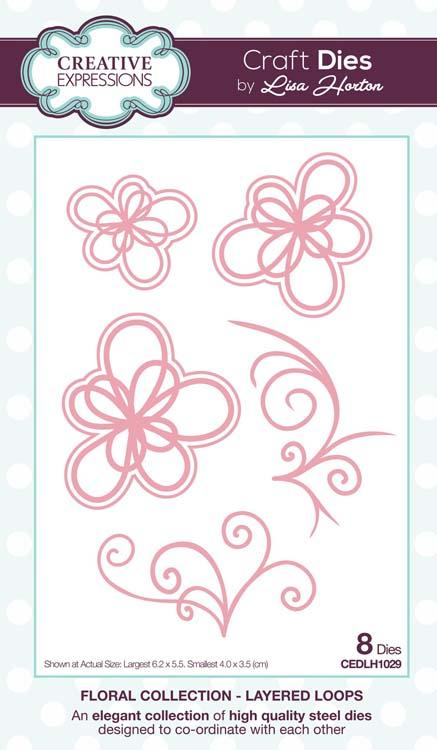 Floral Collection Layered Loops Craft Die