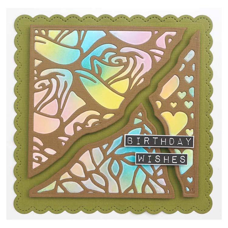 Creative Expressions Broken Tiles Collection Hearts & Roses Craft Die