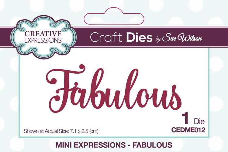 Mini Expressions Collection Fabulous Die