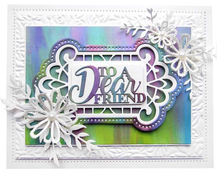 Dies by Sue Wilson Mini Expressions Collection To a Dear Friend