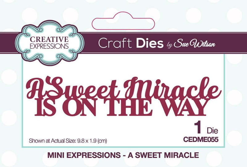 Dies by Sue Wilson Mini Expressions Collection A Sweet Miracle
