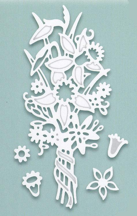 Creative Expressions: Paper Cuts Collection Spring Posy