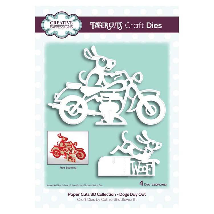 Creative Expressions Paper Cuts 3D Collection - Dogs Day Out