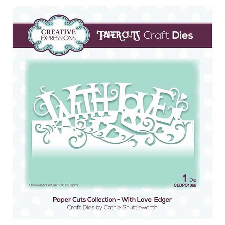 Creative Expressions Paper Cuts Collection - With Love Edger
