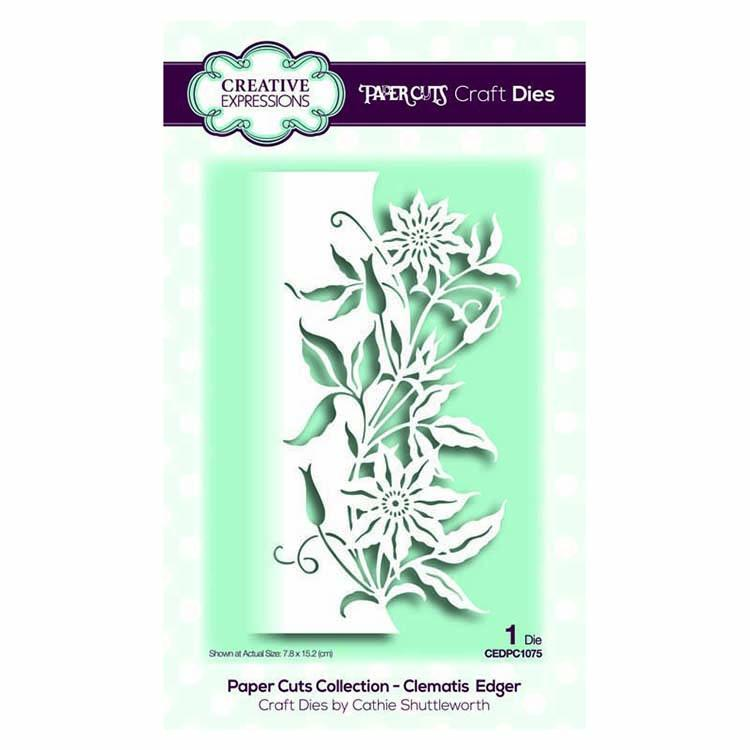 Creative Expressions Paper Cuts Collection - Clematis  Edger