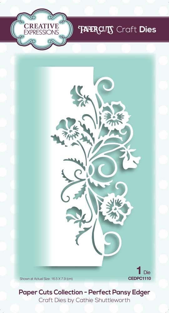 Creative Expressions Paper Cuts Perfect Pansy Edger Craft Die