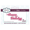 Creative Expressions Dies by Sue Wilson Mini Shadowed Sentiments Happy Birthday