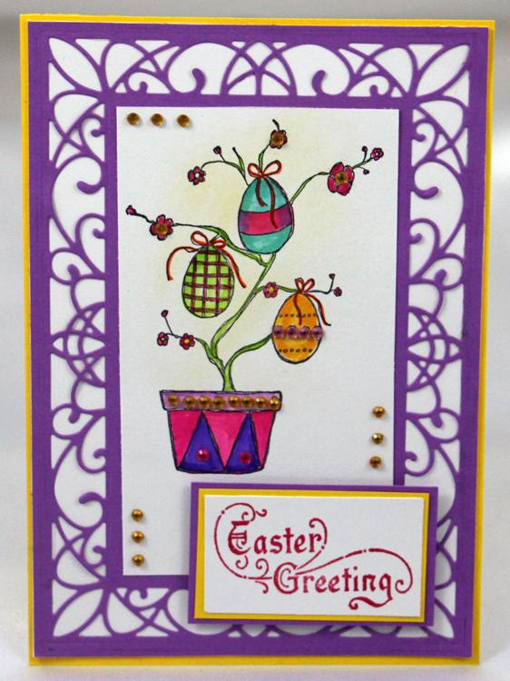 Frog's Whiskers Ink Stamp - Easter Tree Egg
