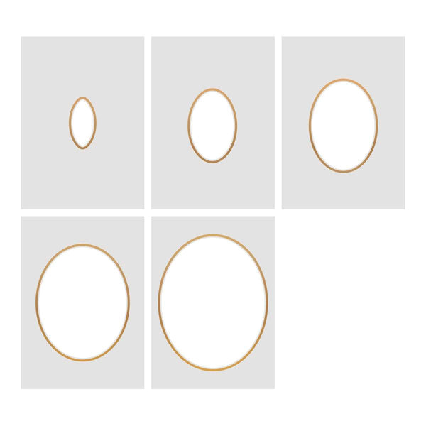 Cut, Foil and Emboss Nesting Negative Ovals - 106 x 134mm | 4.1 x 5.2in