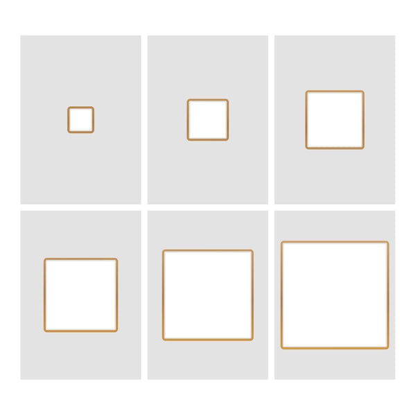 Cut, Foil and Emboss Nesting Negative Squares - 107 x 107mm | 4.2 x 4.2in