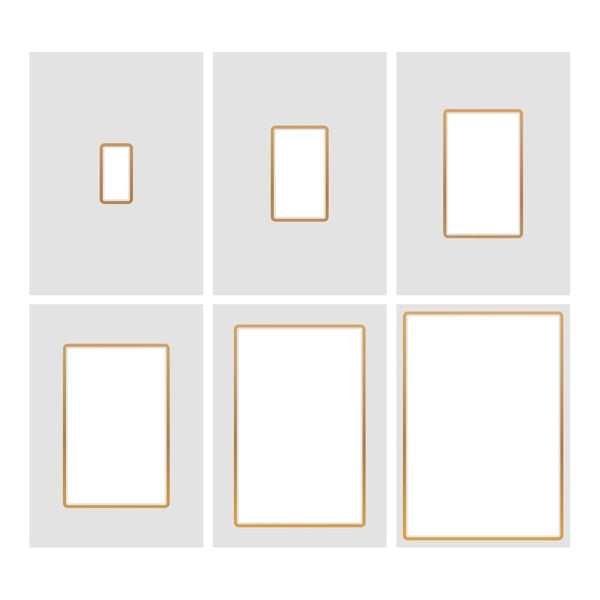 Cut, Foil and Emboss Nesting Negative Rectangles - 110 x 160mm | 4.3 x 6.3in