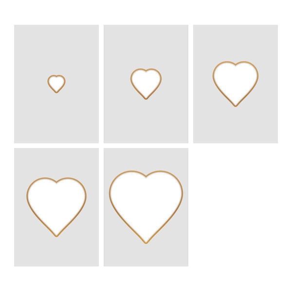 Cut, Foil and Emboss Nesting Negative Hearts - 104 x 103mm | 4 x 4in