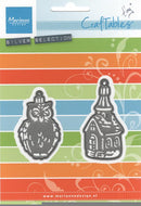 Marianne Design: Craftables Dies - Tiny's Ornaments Church & Owl