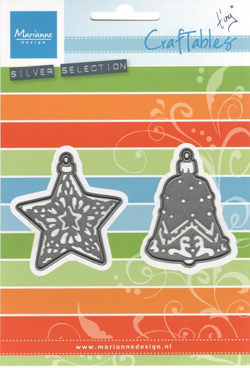 Marianne Design: Craftables Dies - Tiny's Ornaments Star & Bell