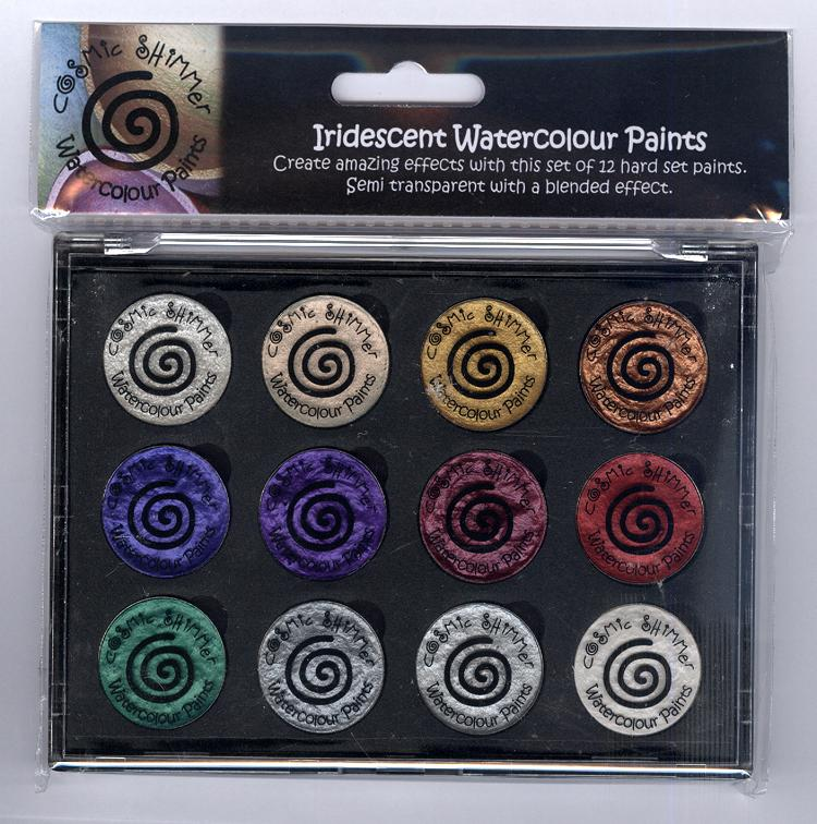 Cosmic Shimmer Iridescent Watercolour Pallet set  - Christmas