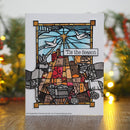 Designer Boutique Collection Stained Glass Holy Land 6 x 4 in Pre Cut Rubber Stamp