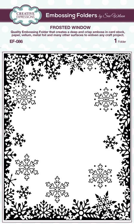 Creative Expressions Emboss Folder 5 3/4 x 7 1/2 Frosted Window