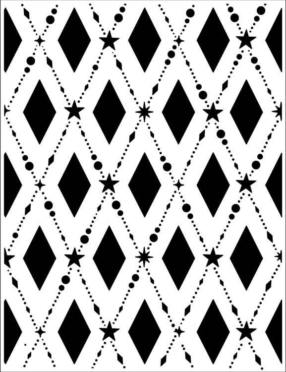 Embossing Folder 5 3/4 x 7 1/4 Tinsel Lattice
