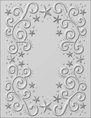 Embossing Folder 3D Twinkle Swirls 5 3/4 x 7 1/2