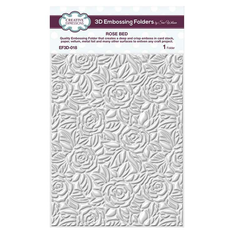 Creative Expressions Embossing Folder 3D 5 3/4 x 7 1/2 Rose Bed