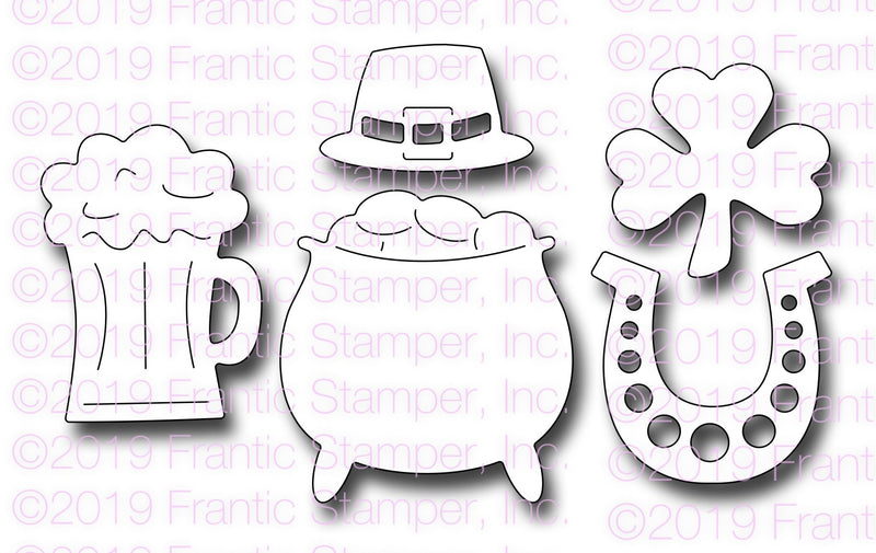 Frantic Stamper Precision Die - St Patty's Day Icons