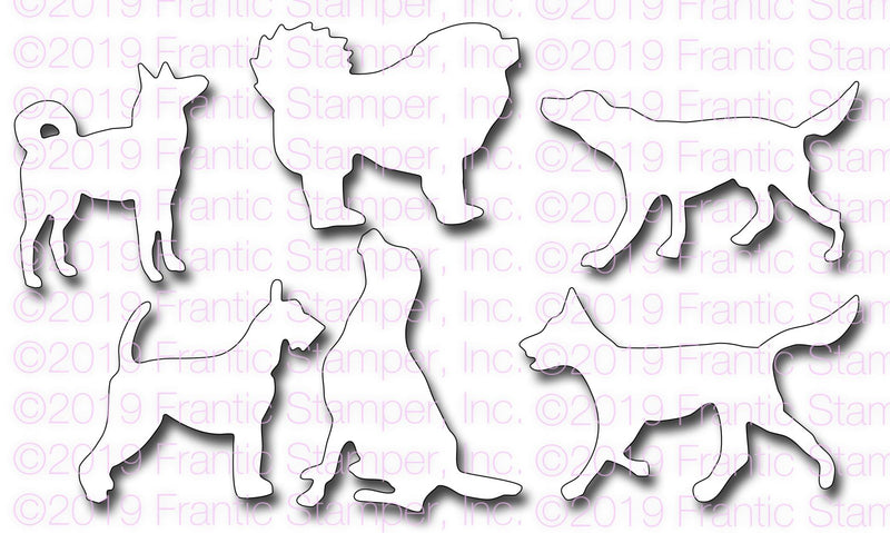 Frantic Stamper Precision Die - Dog Silhouettes