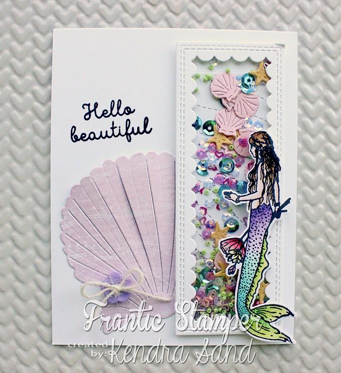 Frantic Stamper Precision Die - Inverted Scallop Half Panel