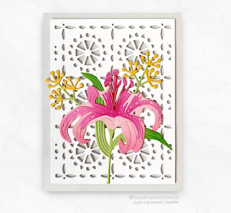 Frantic Stamper Precision Die - Tile Pattern Card Panel